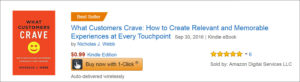 What Customers Crave is an Amazon Best Seller