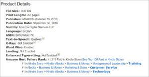 Amazon Kindle Ranking 10-5-16